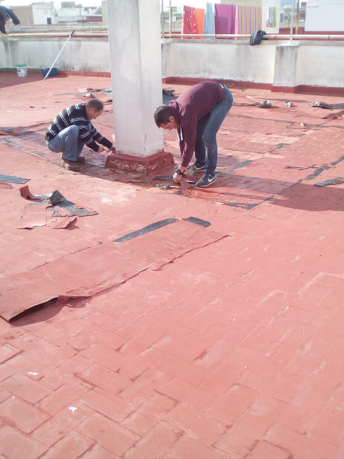 Rehabilitacion de terraza en valencia impersil - Caucho para tejados ...